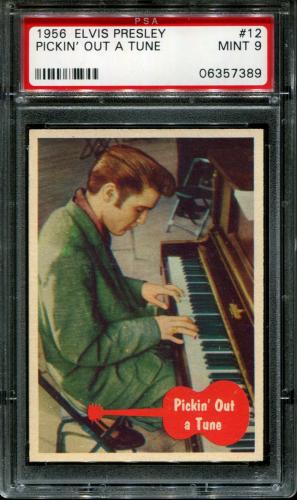1956 Elvis Presley #12 Pickin' Out A Tune Pop 5 Psa 9 N2587032-389