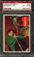 1956 Elvis Presley #27 Swinging Low Psa 8 N2523352-345