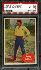 1956 Elvis Presley #28 Acting Outdoors Psa 8 N2523353-001