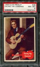 1956 Elvis Presley #29 Facing The Cameras Low Pop Psa 8 N2523354-449