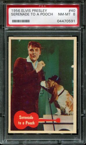 1956 Elvis Presley #40 Serenade To A Pooch Pop 11 Psa 8 N2587057-591