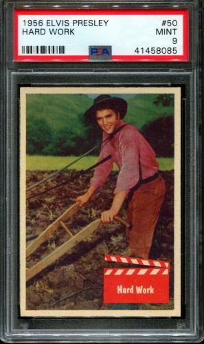 1956 Elvis Presley #50 Hard Work Pop 8 Psa 9 N2603231-085