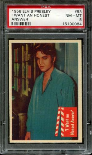 "1956 Elvis Presley #53 ""i Want An Honest Psa 8 N2523378-084"