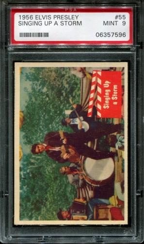 1956 Elvis Presley #55 Singing Up A Storm Pop 5 Psa 9 N2587070-596