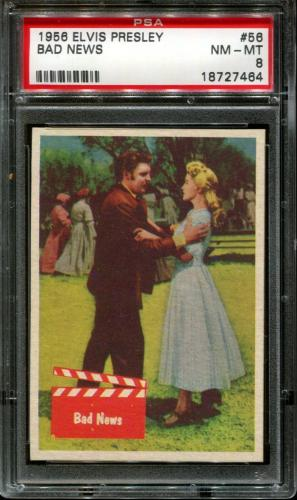 1956 Elvis Presley #56 Bad News Psa 8 N2523380-464