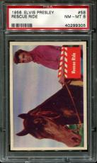 1956 Elvis Presley #58 Rescue Ride Psa 8 N2523382-305
