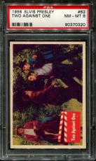 1956 Elvis Presley #62 Two Against One Psa 8 N2523386-320