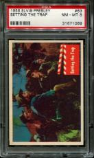 1956 Elvis Presley #63 Setting The Trap Psa 8 N2523387-069