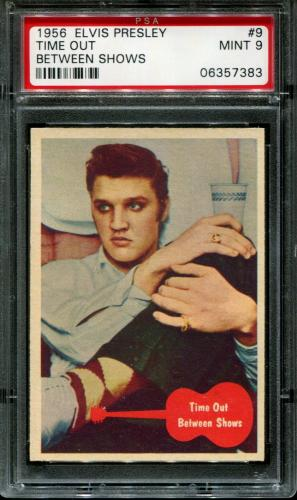 1956 Elvis Presley #9 Time Out Between Pop 5 Psa 9 N2587030-383
