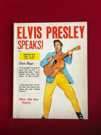 "1956, Elvis Presley, ""Elvis Presley Speaks"" Magazine (No Label) Scarce"