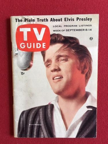 """1956, Elvis Presley, """"TV Guide"""", (No Label) Scarce"""