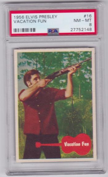 1956 Elvis Presley Vacation Fun Card #16 Psa 8 & Centered Only 2 Graded Higher!