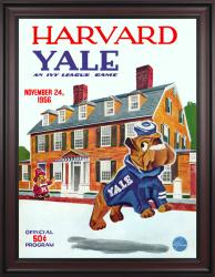 1956 Harvard Crimson vs Yale Bulldogs 36x48 Framed Canvas Historic Football Poster