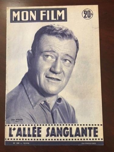 "1956, John Wayne, ""MON FILM"" Magazine  (Scarce)  ""The Duke"
