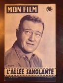 "1956, John Wayne, ""Mon Film"" Oversize (12"" Tall) Magazine (Scarce)"