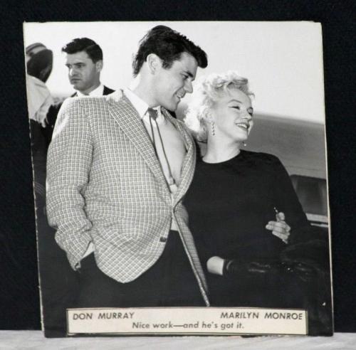 "1956 Marilyn Monroe & Don Murray, ""Bus Stop"" Co-Stars, Original Photograph"