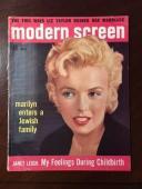 "1956 Marilyn Monroe, ""Modern Screen"" Magazine, (No Label)"