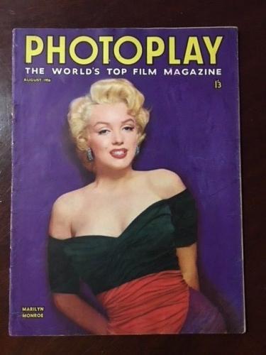"1956 Marilyn Monroe, ""PHOTOPLAY "" Magazine, (Scarce), No Label"