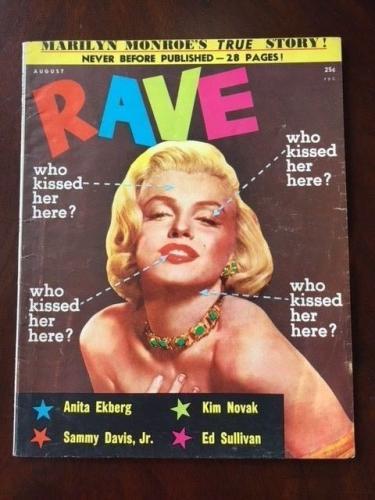 "1956 Marilyn Monroe, ""RAVE"" Magazine (Scarce) (No Label)"