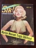 "1956 Marilyn Monroe, ""SIR!"" Magazine (Scarce) (No Label)"