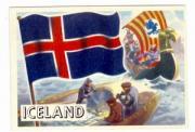 1956 Topps Flags Of The World #17 Iceland card