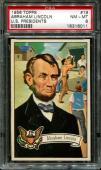 1956 Topps U.s. Presidents #19 Abraham Lincoln Centered Psa 8 N2522353-011