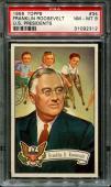 1956 Topps U.s. Presidents #34 Franklin Roosevelt Centered Psa 8 N2522337-312