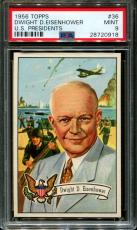 1956 Topps U.s. Presidents #36 Dwight D.eisenhower Pop 7 Psa 9 N2556044-918
