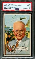 1956 Topps U.s. Presidents #36 Dwight D.eisenhower Pop 7 Psa 9 N2556044-918