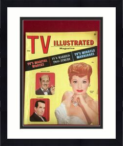 """1956,Lucille Ball / Groucho Marx, """"TV Illustrated"""" Magazine (Vintage) (No Label)"""