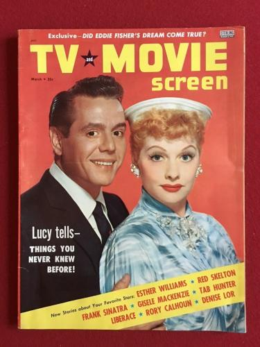 """1956,Lucille Ball (I Love Lucy),""""TV and Movie Screen"""" Magazine (No Label) Scarce"""