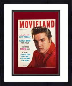 "1957, Elvis Presley, ""MOVIELAND""  Magazine (Scarce / Vintage)"
