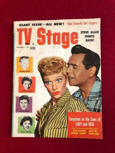 """1957, Lucille Ball, """"TV Stage""""  Magazine (Scarce) (No Label)  (I Love Lucy)"""