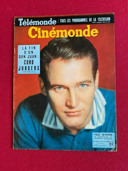 "1958, Paul Newman, ""Cinemonde"" Magazine (Scarce/ Vintage)"