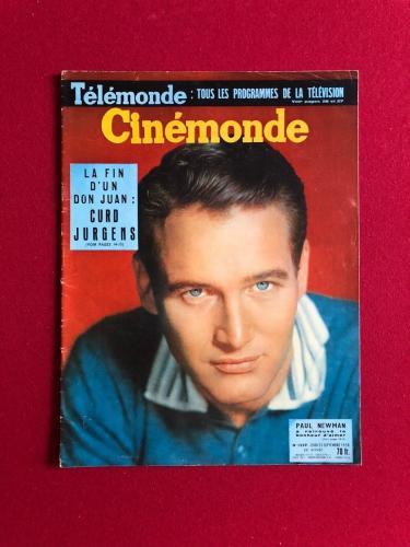 "1958, Paul Newman, ""Cinemonde"" Oversize Magazine (No Label) Scarce"