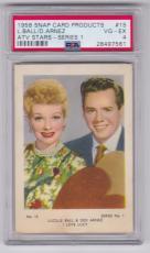 1958 Snap Lucille Ball Desi Arnez Atv Stars Card #15 Psa 4 Vg-ex Well Centered