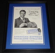 1959 American Express AmEx 11x14 Framed ORIGINAL Vintage Advertisement Poster