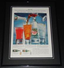 1959 Canada Dry Club Soda 11x14 Framed ORIGINAL Vintage Advertisement Poster