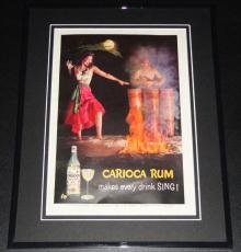 1959 Carioca Rum 11x14 Framed ORIGINAL Vintage Advertisement Poster