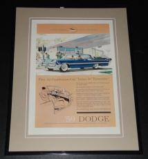 1959 Dodge 11x14 Framed ORIGINAL Vintage Advertisement Poster