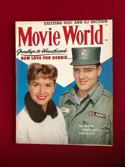 "1959, Elvis Presley, ""MOVIE WORLD""  Magazine (Scarce / Vintage)"