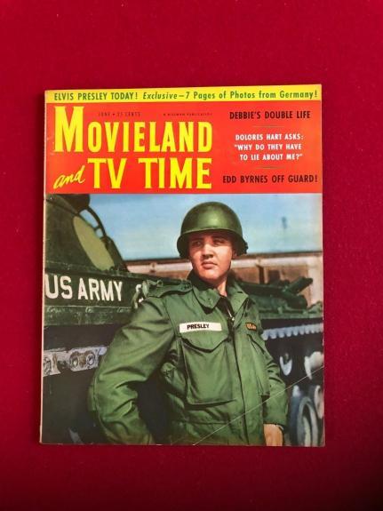 "1959, Elvis Presley, ""MOVIELAND & TV TIME""  Magazine (Scarce / Vintage)"