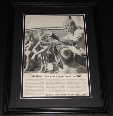 1959 Equitable Life Insurance 11x14 Framed ORIGINAL Vintage Advertisement Poster