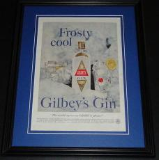 1959 Gilbey's Gin 11x14 Framed ORIGINAL Vintage Advertisement Poster