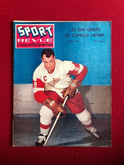 "1959, Gordie Howe, ""SPORT REVUE"" Magazine (Scarce)"