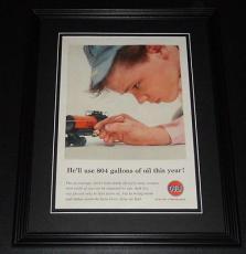 1959 Gulf Oil 11x14 Framed ORIGINAL Vintage Advertisement Poster B