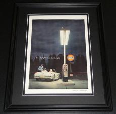 1959 Gulf Oil 11x14 Framed ORIGINAL Vintage Advertisement Poster D