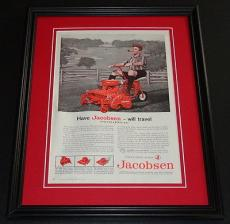 1959 Jacobsen Lawn Tractor 11x14 Framed ORIGINAL Vintage Advertisement Poster