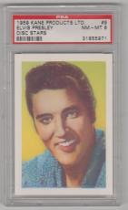1959 Kane Products Ltd Elvis Presley Disk Star Card #9 Psa 8 Nm-mt Well Centered