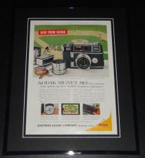 1959 Kodak Signet 80 11x14 Framed ORIGINAL Vintage Advertisement Poster